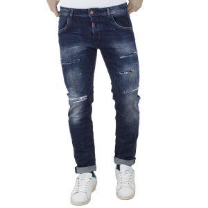 Τζιν Παντελόνι Slim Fit Back2jeans W37B Μπλε