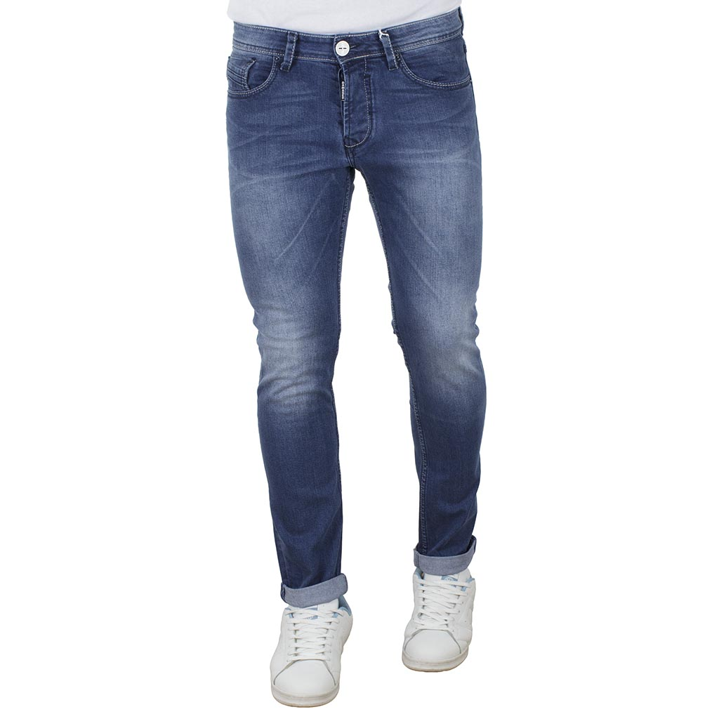 1237ace90074 Τζιν Παντελόνι Slim Basic DAMAGED jeans D15Y Μπλε