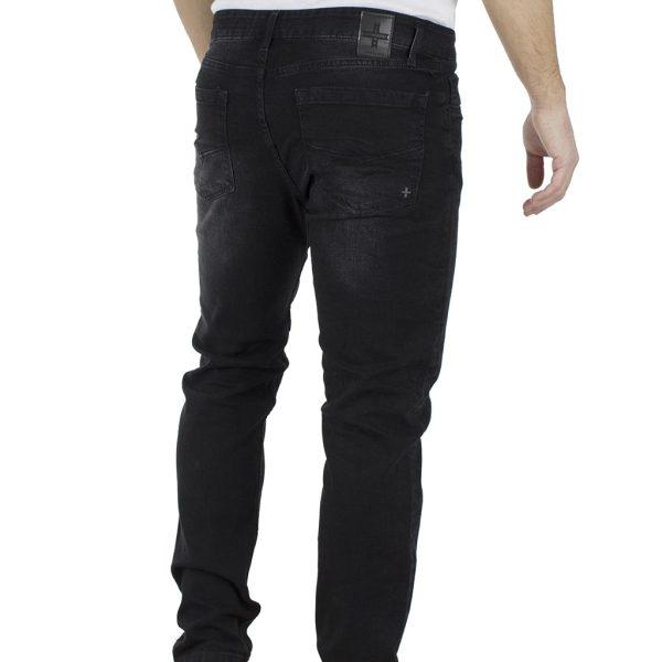 Τζιν Παντελόνι Regular Fit DAMAGED Jeans D30B Μαύρο