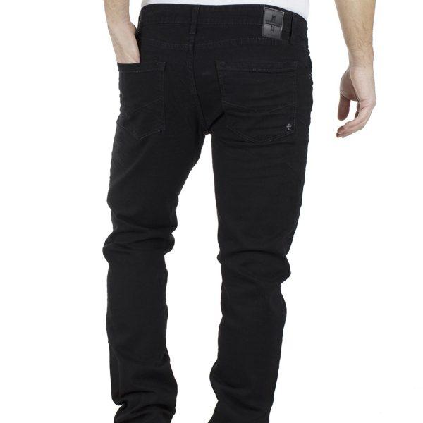Τζιν Παντελόνι Regular Fit DAMAGED Jeans WASH D30C Μαύρο