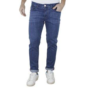 Τζιν Παντελόνι DAMAGED jeans Regular D30A ανοιχτό Μπλε
