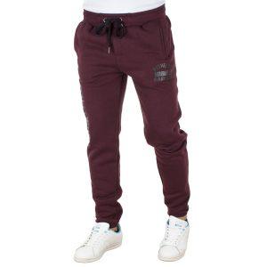 Παντελόνι Φόρμα DOUBLE Jogger Pants MPAN-19 Wine Red