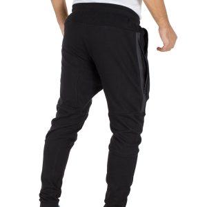 Παντελόνι Φόρμα με Λάστιχα DOUBLE Terry Fleece MPAN-20 Μαύρο