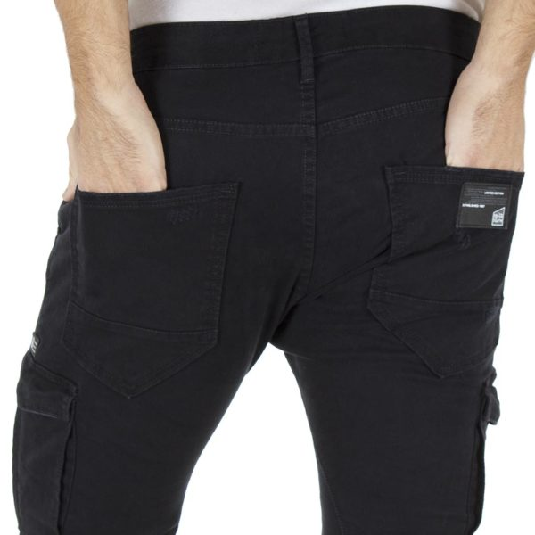 Cargo Cinos Παντελόνι με Λάστιχα COVER LOFT T0182 Μαύρο