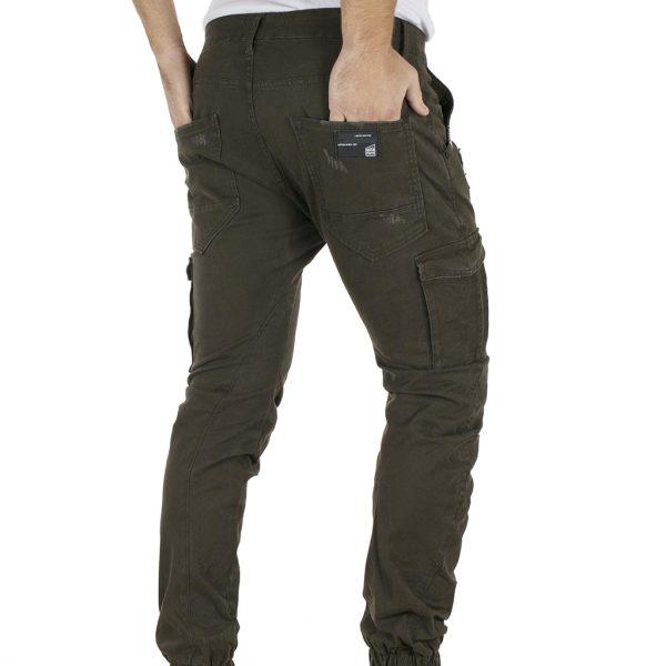 Cargo Παντελόνι με Λάστιχα COVER LOFT T0182 Χακί
