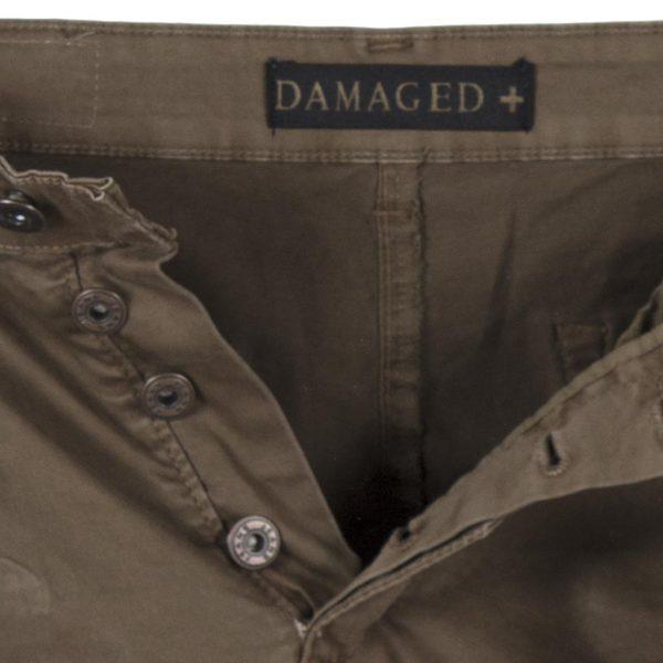 Cargo Παντελόνι με Λάστιχα DAMAGED Army D98B ανοιχτό Καφέ