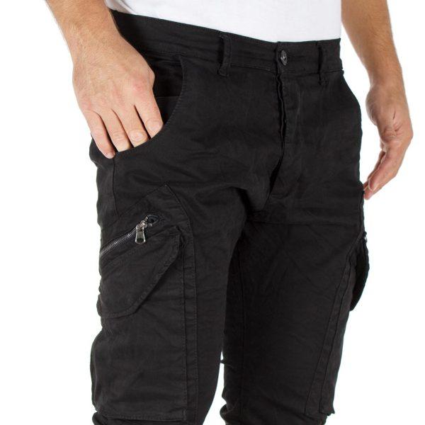 Παντελόνι Chinos Cargo Back2jeans Boy W22 Μαύρο