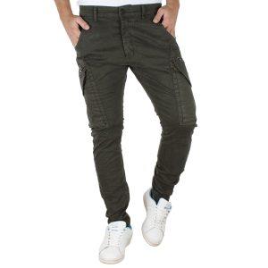 Παντελόνι Chinos Cargo Back2jeans Boy W22 Χακί