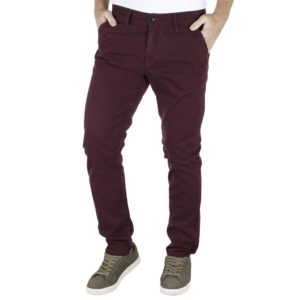 Παντελόνι Casual Chinos DAMAGED A179-T82 Wine Red