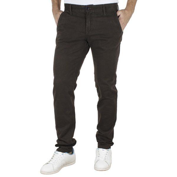 Παντελόνι Casual Chinos DAMAGED jeans 61-T82 Καφέ