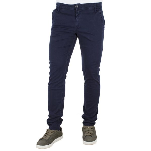 Παντελόνι Casual Chinos DAMAGED jeans D53 Μπλε