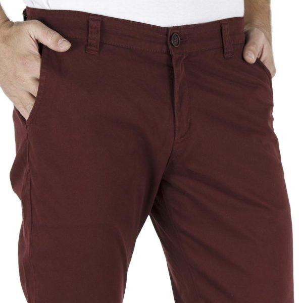 Παντελόνι Casual Chinos DAMAGED jeans D53 Wine Red
