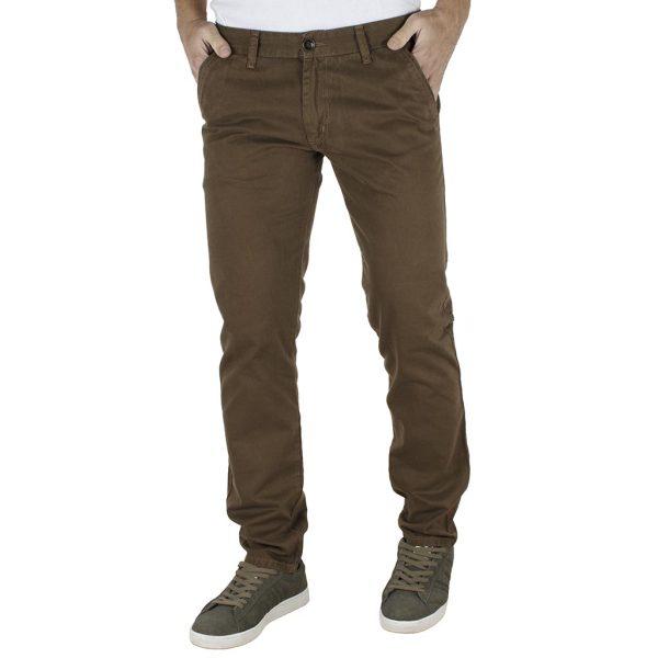 Παντελόνι Casual Chinos DAMAGED jeans M4 Καφέ