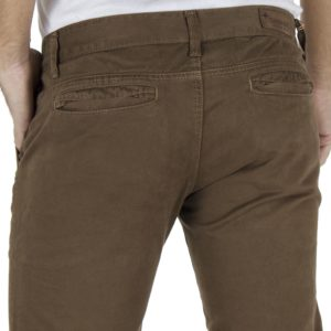 Παντελόνι Casual Chinos DAMAGED jeans M4 Καφέ