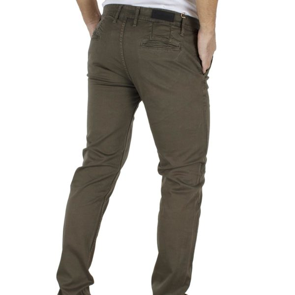 Παντελόνι Casual Chinos DAMAGED jeans MOD 1 Χακί