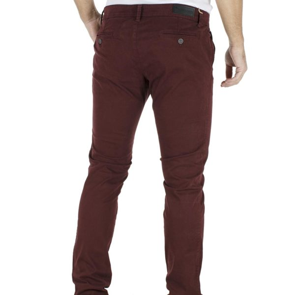 Παντελόνι Casual Chinos DAMAGED jeans T61 Μπορντό