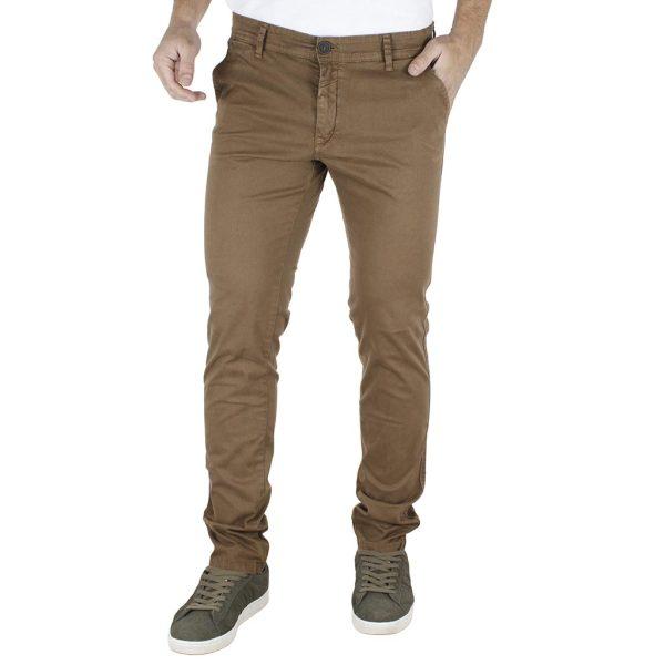 Παντελόνι Casual Chinos DAMAGED jeans T61 Καφέ