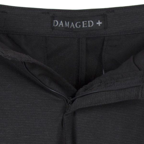 Παντελόνι με Πιέτα Casual Chinos DAMAGED D10A Μαύρο