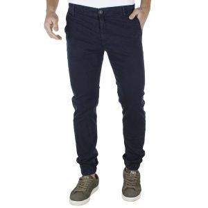Παντελόνι Chinos με Λάστιχα DAMAGED jeans B50 Navy