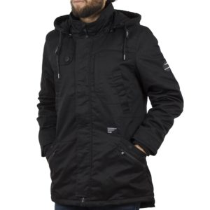 Μακρύ Μπουφάν Parka Jacket με Κουκούλα SPLENDID 40-201-030 Μαύρο