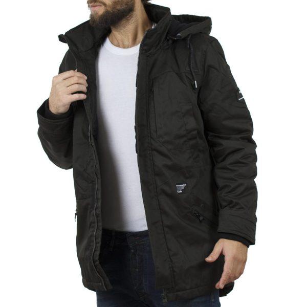 Μακρύ Μπουφάν Parka Jacket με Κουκούλα SPLENDID 40-201-030 σκούρο Πράσινο