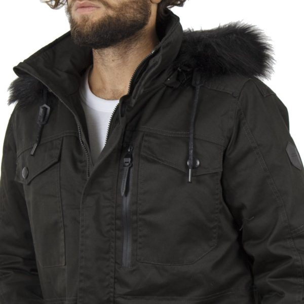 Μακρύ Μπουφάν Parka Jacket με Κουκούλα SPLENDID 40-201-031 σκούρο Πράσινο