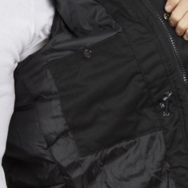 Μακρύ Μπουφάν Parka Jacket με Κουκούλα SPLENDID 40-201-041 Μαύρο