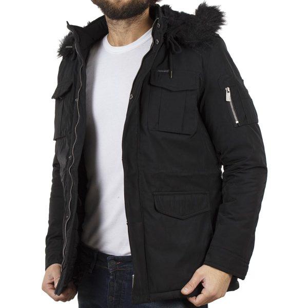 Μπουφάν Jacket με Κουκούλα SPLENDID 40-201-050 Μαύρο