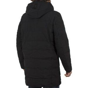 Μακρύ Μπουφάν Parka Jacket με Κουκούλα SPLENDID 40-201-091 Μαύρο