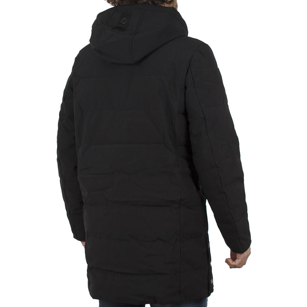 0d781f737c90 Μακρύ Μπουφάν Parka Jacket με Κουκούλα SPLENDID 40-201-091 Μαύρο ...
