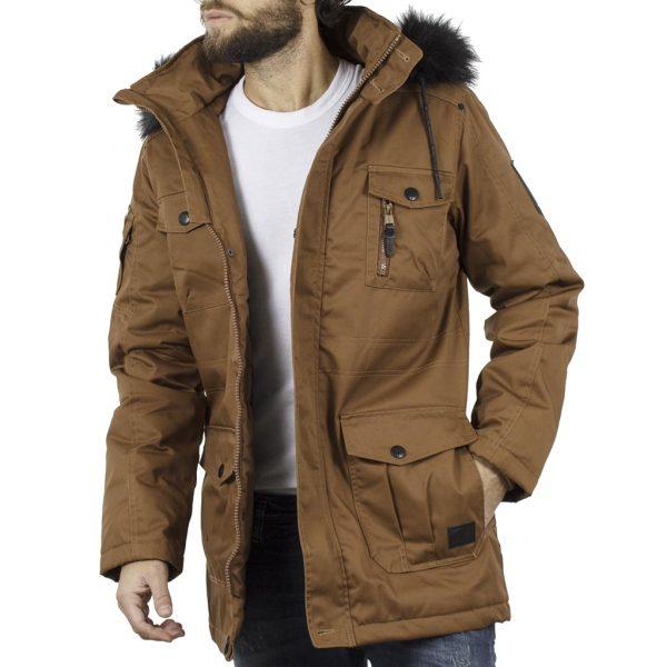 Μακρύ Μπουφάν Parka Jacket με Κουκούλα SPLENDID 40-201-097 Camel