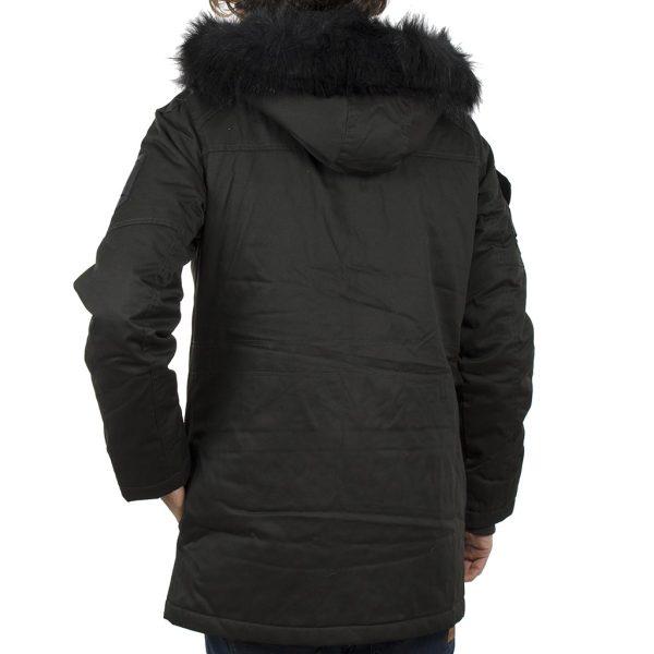 Μακρύ Μπουφάν Parka Jacket με Κουκούλα SPLENDID 40-201-097 σκούρο Πράσινο