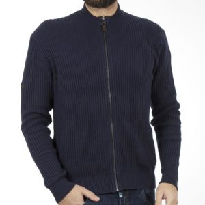 Πλεκτή Ζακέτα BOMBER CARDIGAN DOUBLE KNIT-23 Navy
