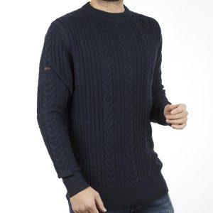 283bf67319fc Πουλόβερ Πλεκτή Μπλούζα Sweater Round Neck DOUBLE KNIT-15 Navy
