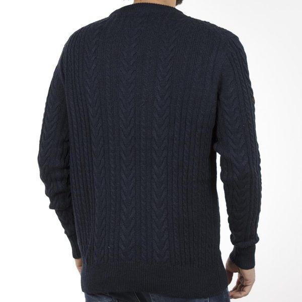 Πουλόβερ Πλεκτή Μπλούζα Sweater Round Neck DOUBLE KNIT-15 Navy