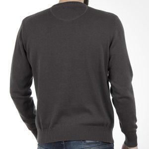Πουλόβερ Πλεκτή Μπλούζα Round Neck Sweater DOUBLE KNIT-19 Ανθρακί