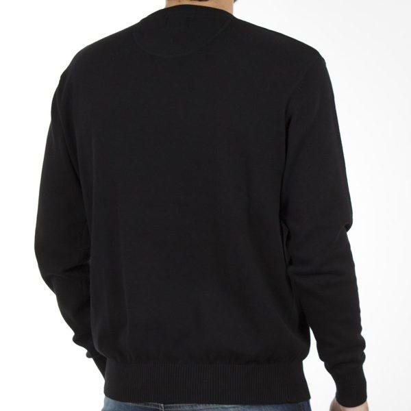 Πουλόβερ Πλεκτή Μπλούζα Round Neck Sweater DOUBLE KNIT-19 Μαύρο