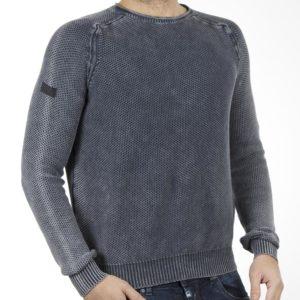 Πουλόβερ Πλεκτή Μπλούζα Knitted Sweater Top DOUBLE KNIT-20 Navy