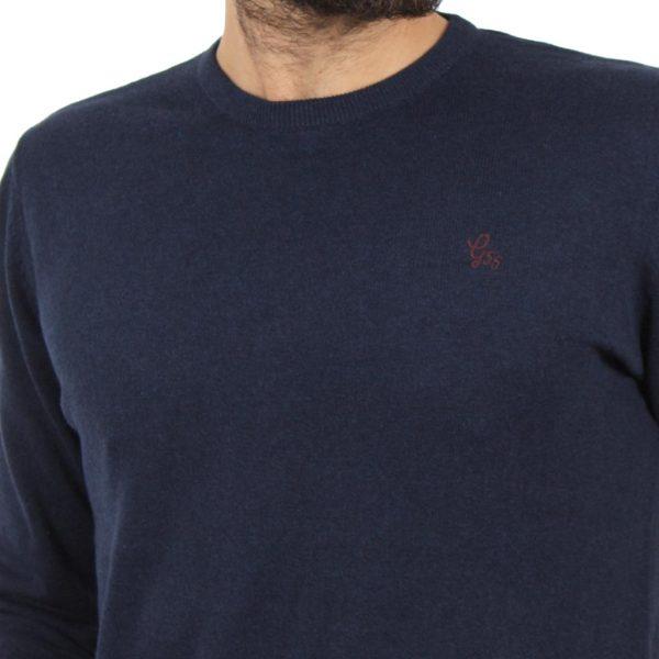 Πλεκτή Μπλούζα Garage55 GAM201-09218 Navy