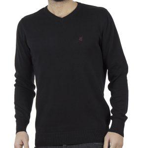Πλεκτή Μπλούζα V-Neck Garage55 GAM202-09218 Μαύρο