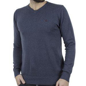 Πλεκτή Μπλούζα V-Neck Garage55 GAM202-09218 Indigo