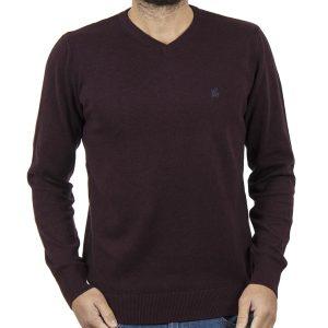 Πλεκτή Μπλούζα V-Neck Garage55 GAM202-09218 Βουργουνδί