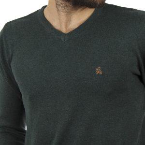 Πλεκτή Μπλούζα V-Neck Garage55 GAM202-09218 Pesto