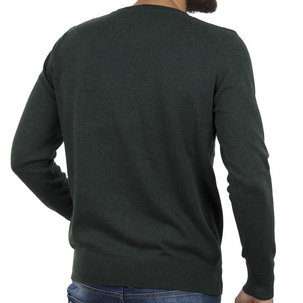 7e4fe222051a Πλεκτή Μπλούζα V-Neck Garage55 GAM202-09218 Pesto