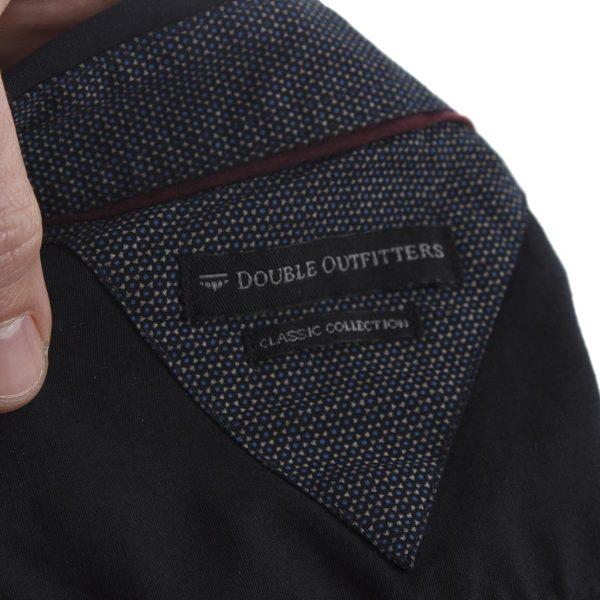 Μακρυμάνικο Πουκάμισο Regular Fit DOUBLE GS-469 Μαύρο