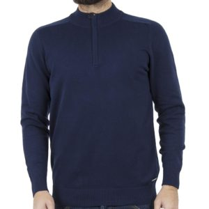 Πουλόβερ Knitwear Zipper-Top BENETO MARETTI W18-KN-250 Navy