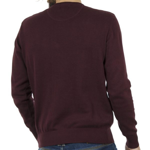 Πλεκτή Μπλούζα Round Neck Sweater DOUBLE KNIT-19 Μπορντό