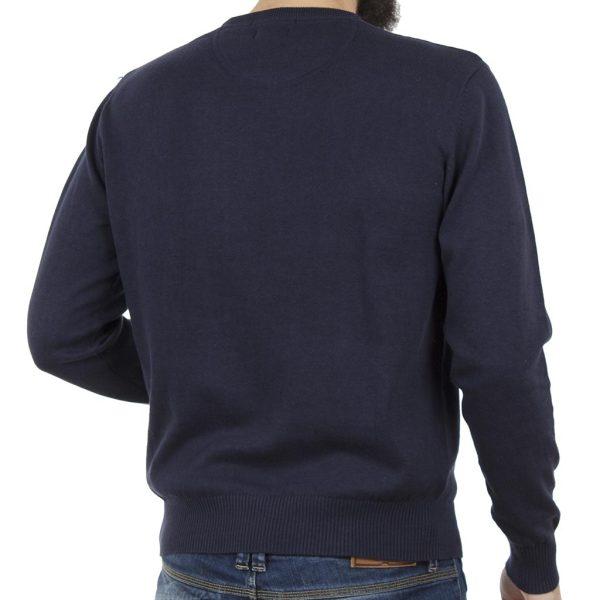 Πλεκτή Μπλούζα Round Neck Sweater DOUBLE KNIT-19 Indigo