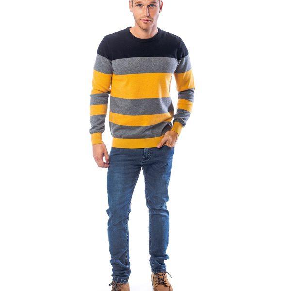 Πουλόβερ Πλεκτή Μπλούζα HEAVY TOOLS HASSIC Sunshine Κίτρινο