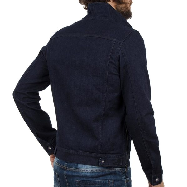 Μπουφάν Jean Jacket COVER JACKET D0045 σκούρο Μπλε
